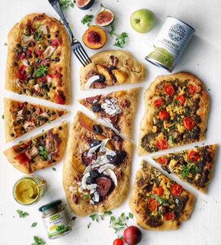 Pizza Vegana in 3 moduri: </br> Doua sarate si una dulce