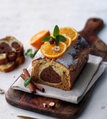Portocale, turta dulce si ciocolata cu rom, <br> Aromele iernii intr-un chec