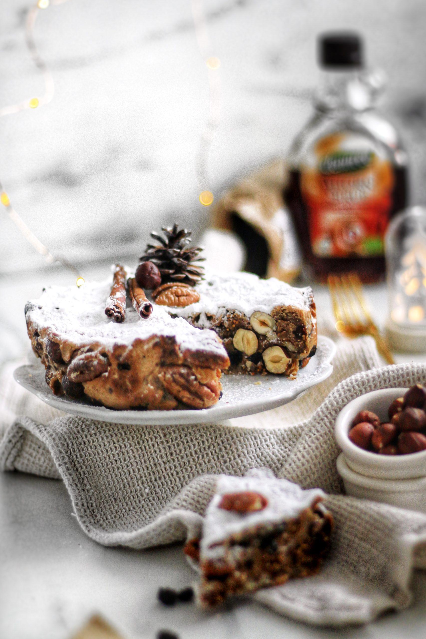 Panforte de Craciun <br> Prajitura vegana cu nuci si fructe uscate